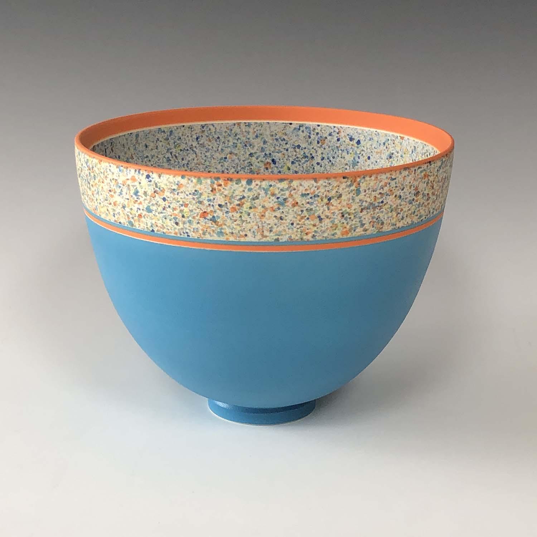 Pot 3. Turquoise:Orange flecked bowl