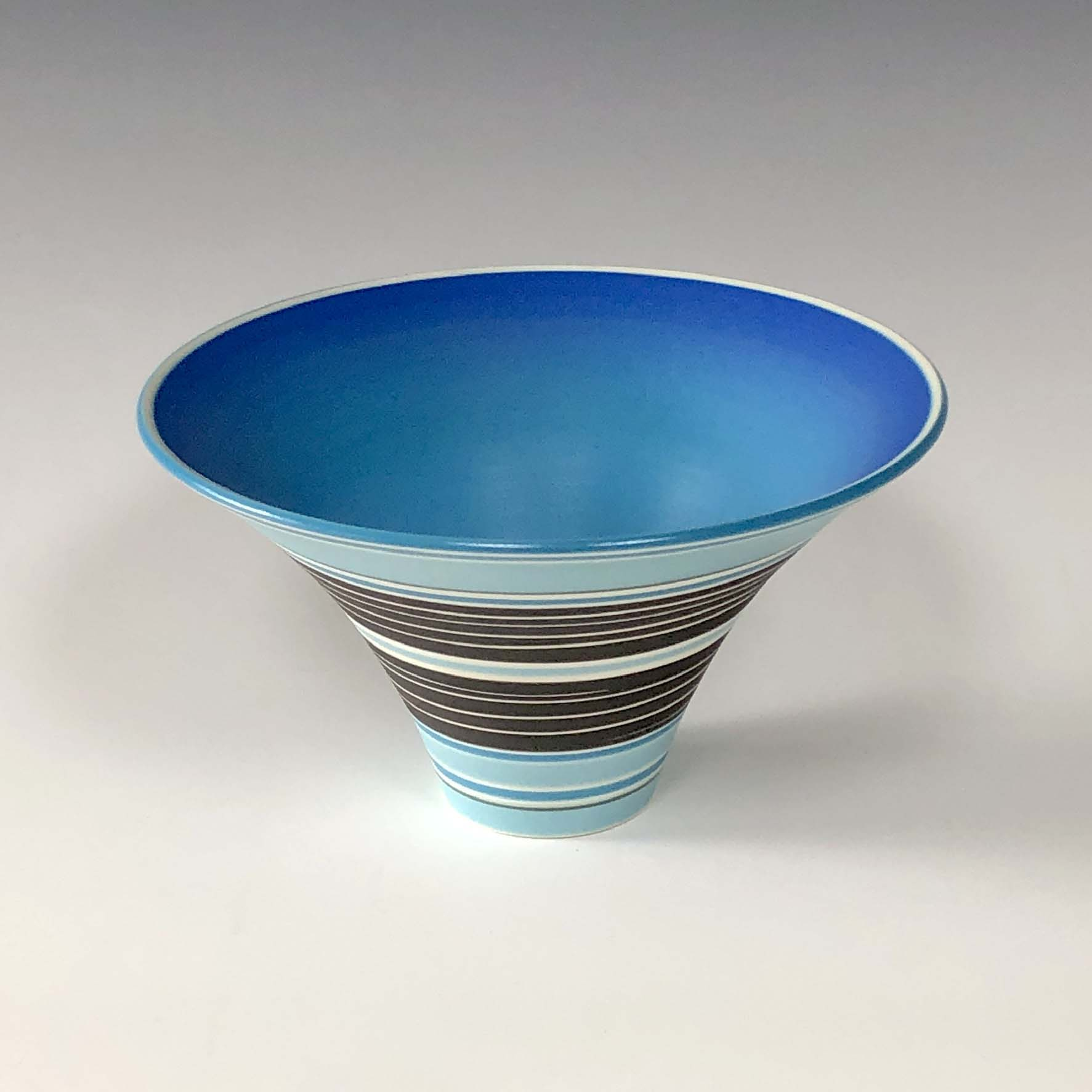 Pot 5. Turquoise:Jade:Black flared bowl 1